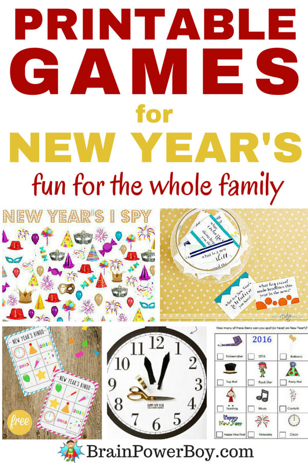 So many FABULOUS New Year printables here!
