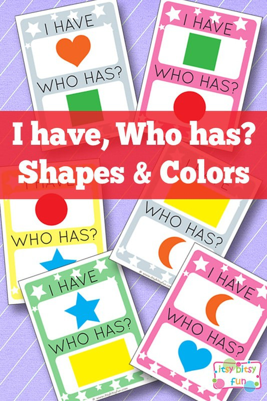 I have shapes who has colours