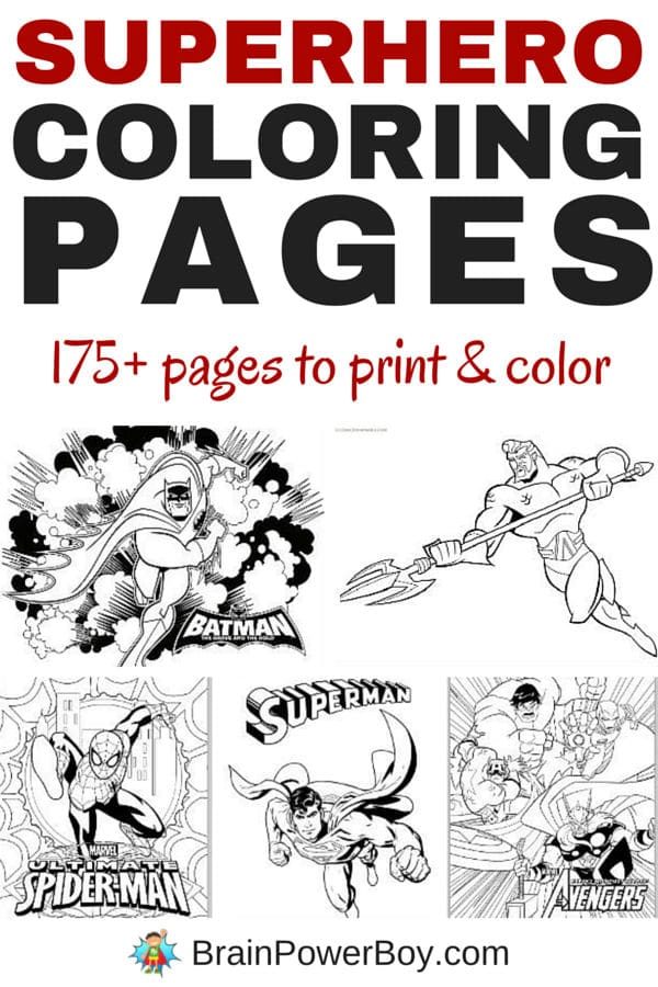 175+ Free Printable Superhero Coloring Pages