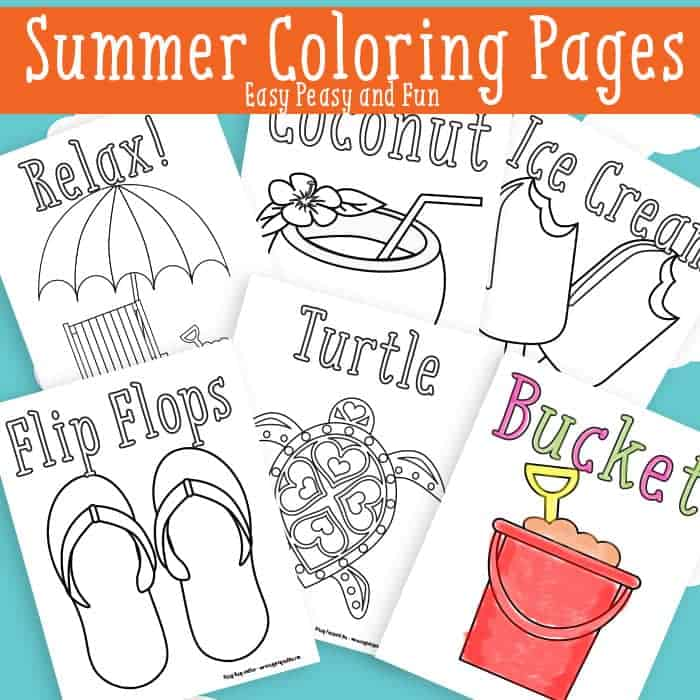 Summer Coloring Pages {Free Printable}