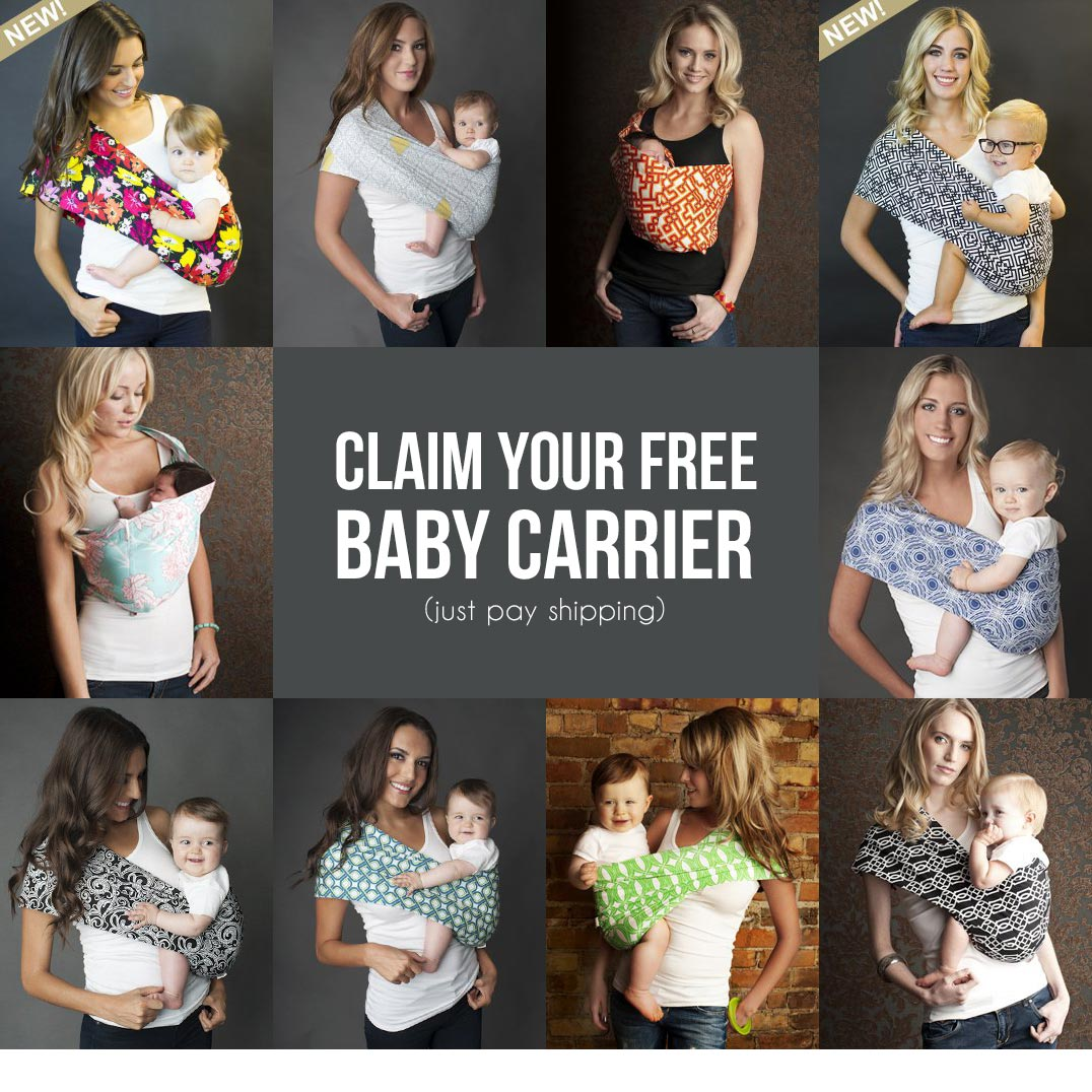 Get your free baby carrier here - code ENBABY