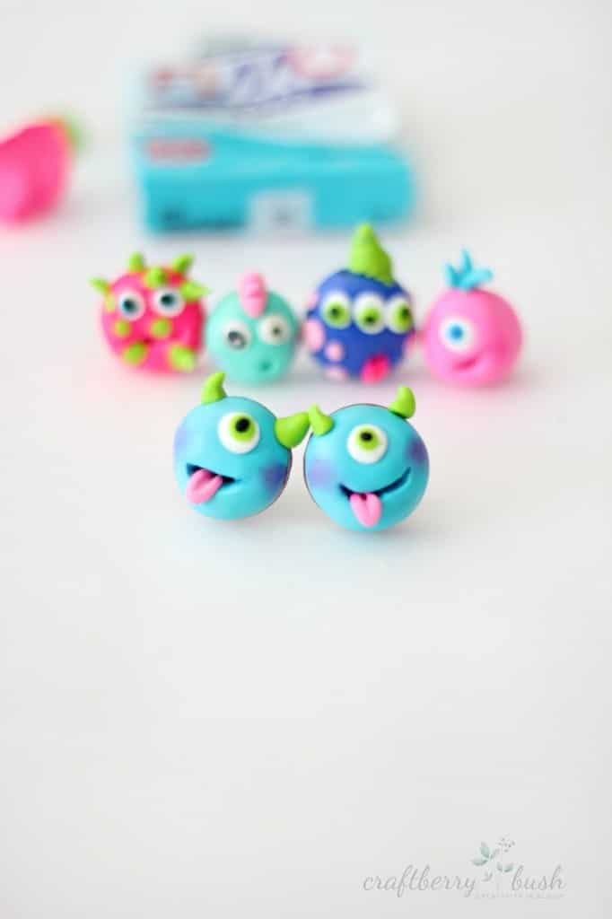 Friendly Monster Polymer Clay Earrings