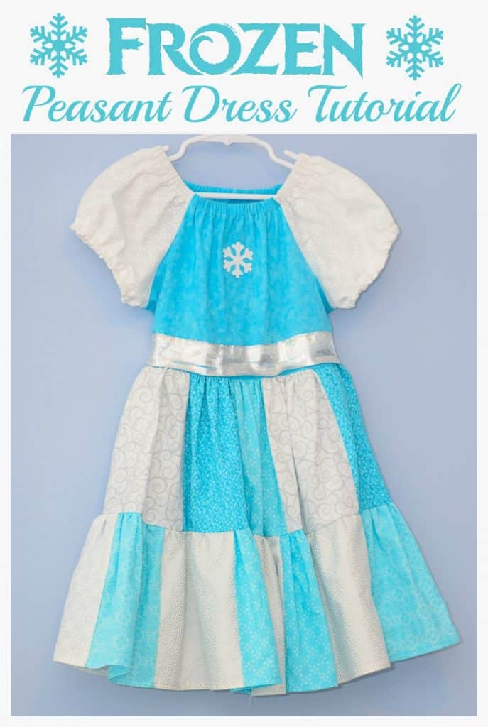 Frozen Inspired Peasant Dress Tutorial