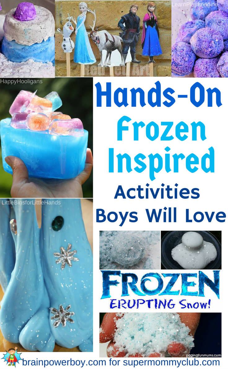 Boys are going to love these hands on frozen inspired activities!