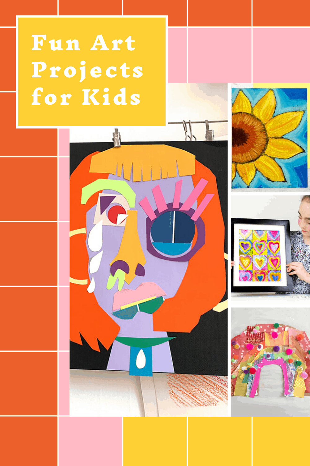 How fun are these art projects for kids! Inspired by Monet and Picasso with plenty of painting, collage and drawing fun for kids of all ages to enjoy!