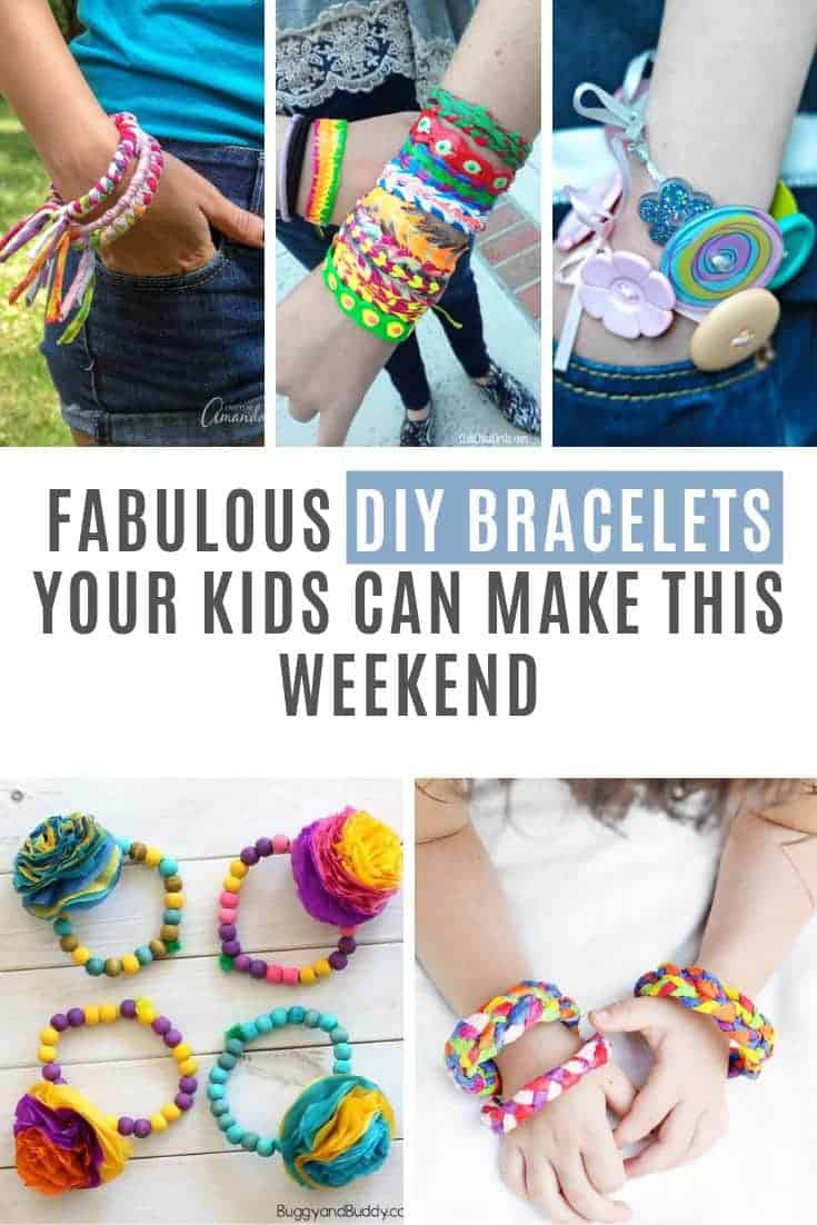 If you're looking for a craft project to do with the kids this weekend how about some fun DIY bracelets? I found plenty of options for friendship bracelets but also beads and buttons and even some made from folded paper!