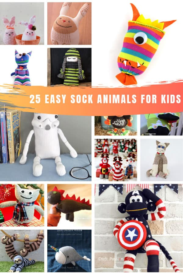 So much fun! These easy sock animals for kids are sure to become their favorite playmates!