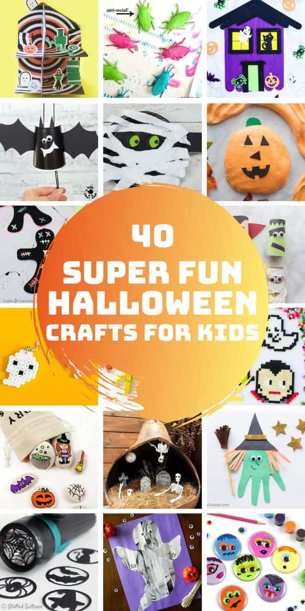 So many spooky fun Halloween crafts for kids of all ages to enjoy! #Halloween #kids #crafts