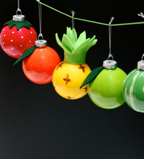 Fun and Fruity Christmas Bauble Ornaments