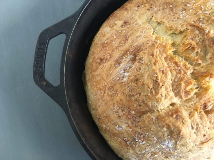 Roasted Garlic Skillet Bread