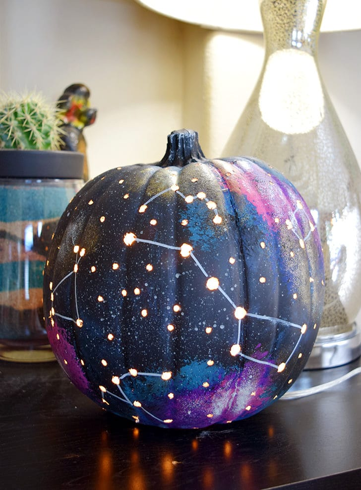 Galaxy Jack o Lantern for Halloween