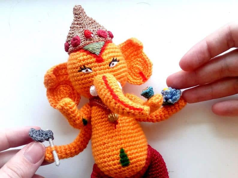 Ganesha the Indian Elephant Doll