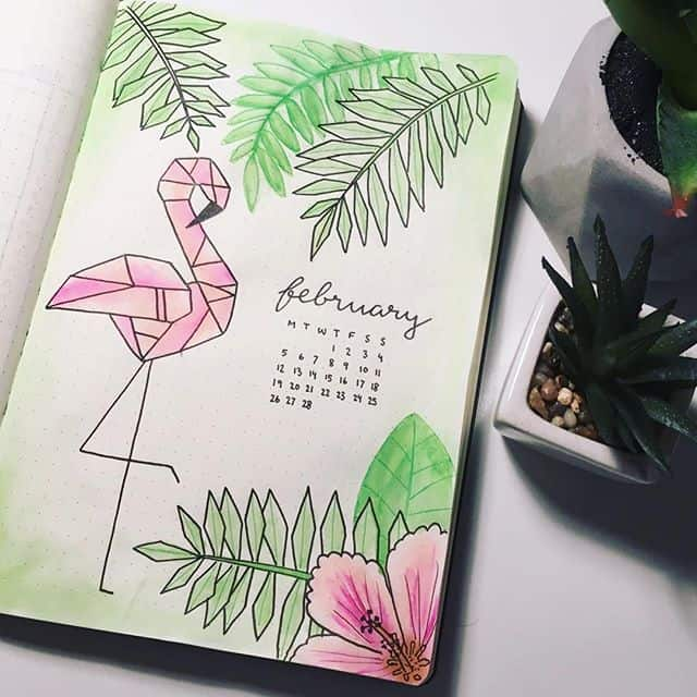 Geometric Flamingo Cover Page