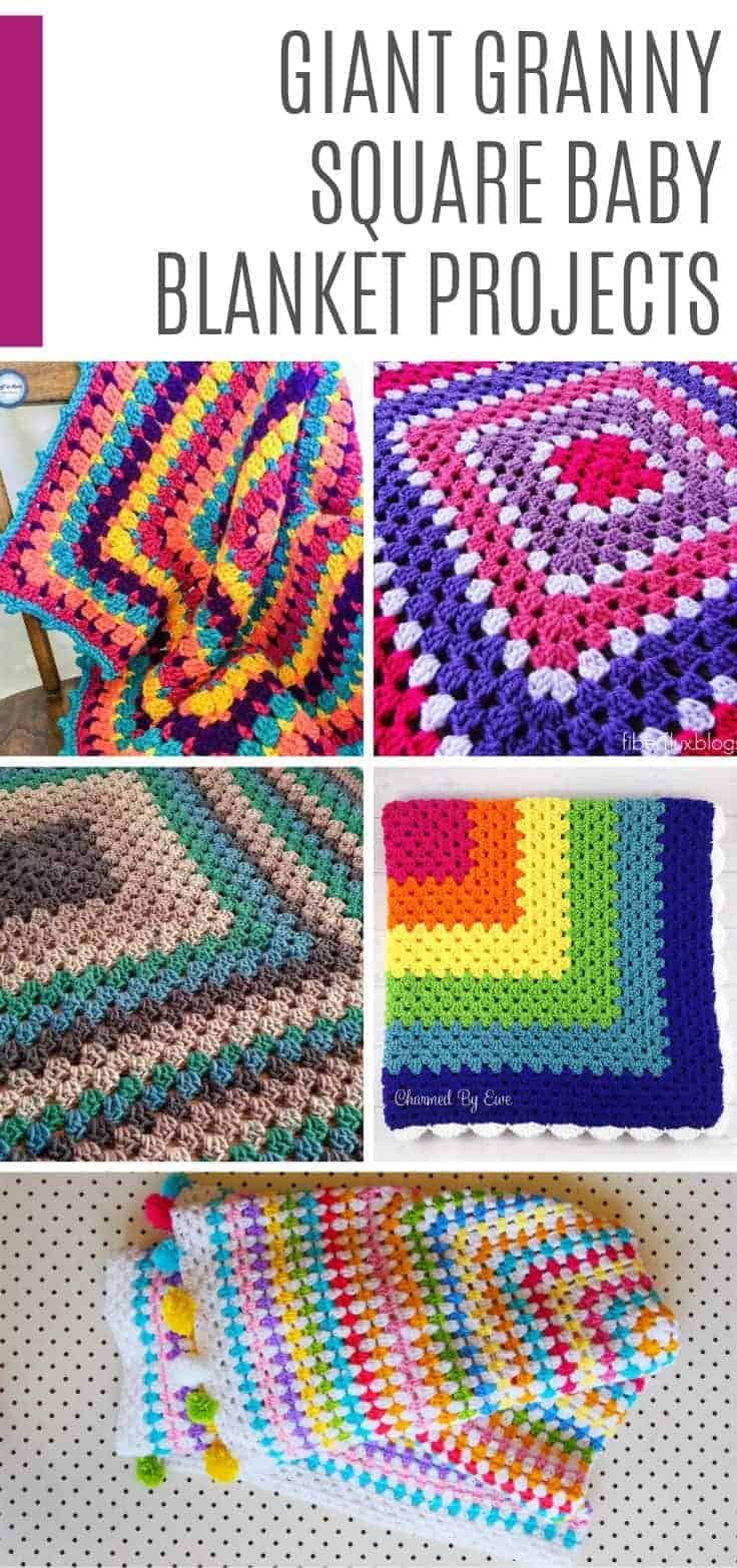 These fabulous giant granny square baby blankets patterns make wonderful baby shower gifts