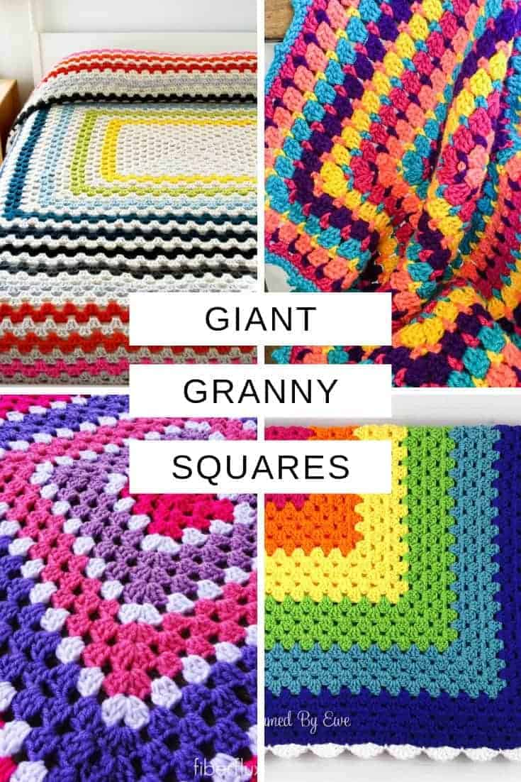 These giant granny square patterns are perfect for baby blankets and throws!