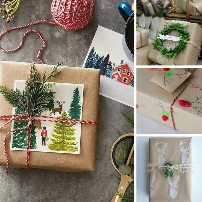 Gift Wrap Ideas with Brown Paper - Who knew there were so many fabulous ways to wrap gifts with Kraft paper!