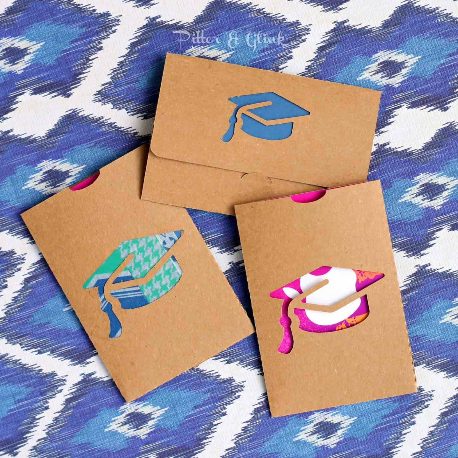 Make a cute grad cap gift card holder