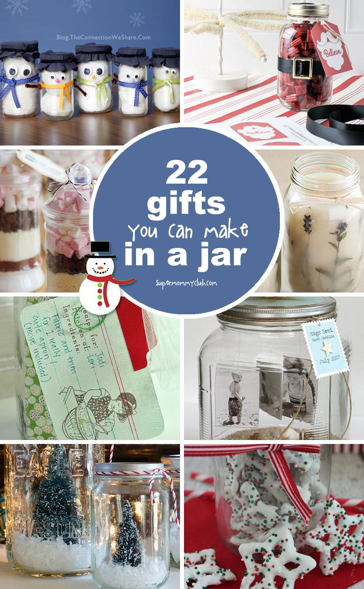 These gifts in a jar ideas are so simple to make but look fabulous.