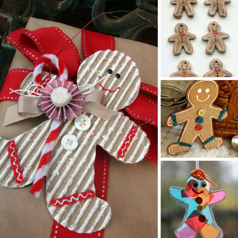 Aww these Gingerbread man ornaments are so stinking cute - the kids will have a blast making them!