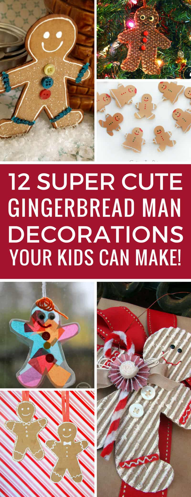 Aww how cute are these gingerbread man decorations! The kids are going to have so much fun making these Christmas ornaments! Thanks for sharing!