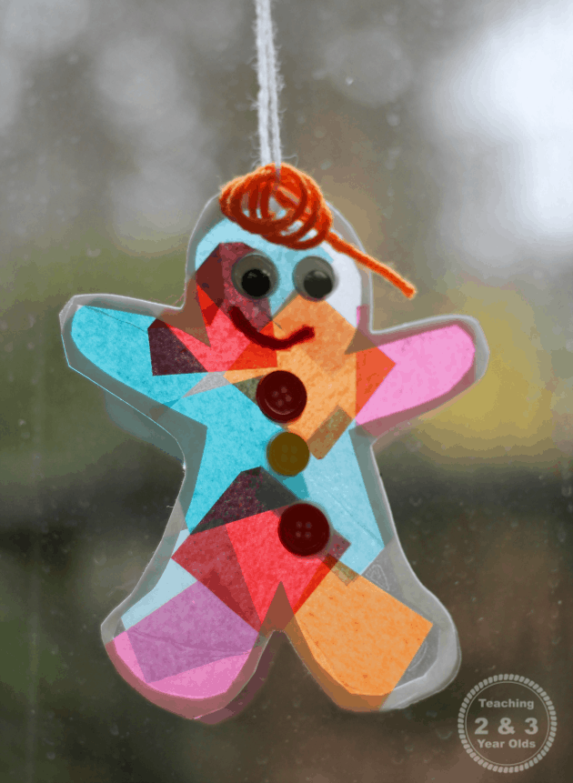 A BEAUTIFUL little Gingerbread Man sun catcher to hang in the window!