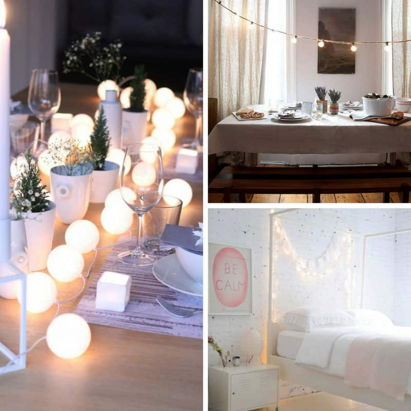 Loving these different ways to use string globe lights - and they're really cheap too!