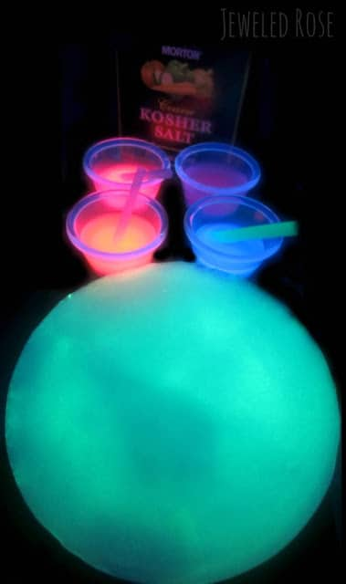 Glowing Ice Science for Kids