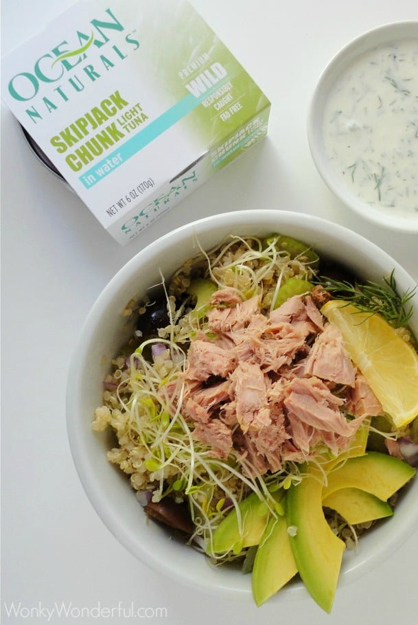 Gluten Free No Mayo Tuna Salad Quinoa Recipe