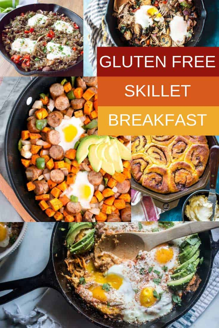 Many of these gluten free skillet breakfast ideas are also Paleo, Keto and Whole30 compliant.