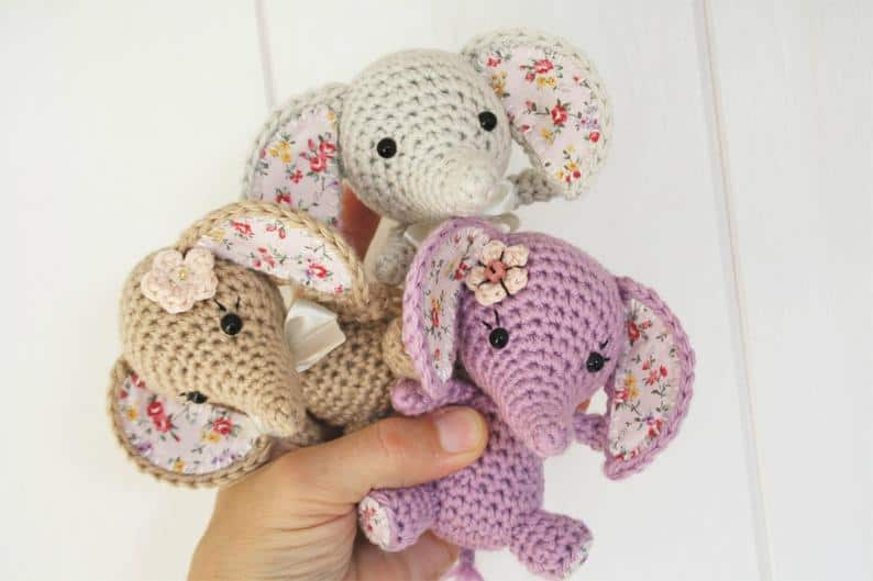 Tiny Good Luck Elephants