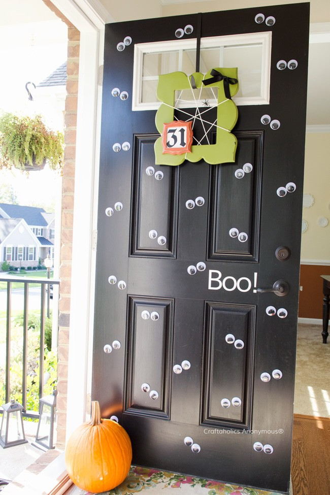 The kids will have a blast making over their front door with googly eyes!