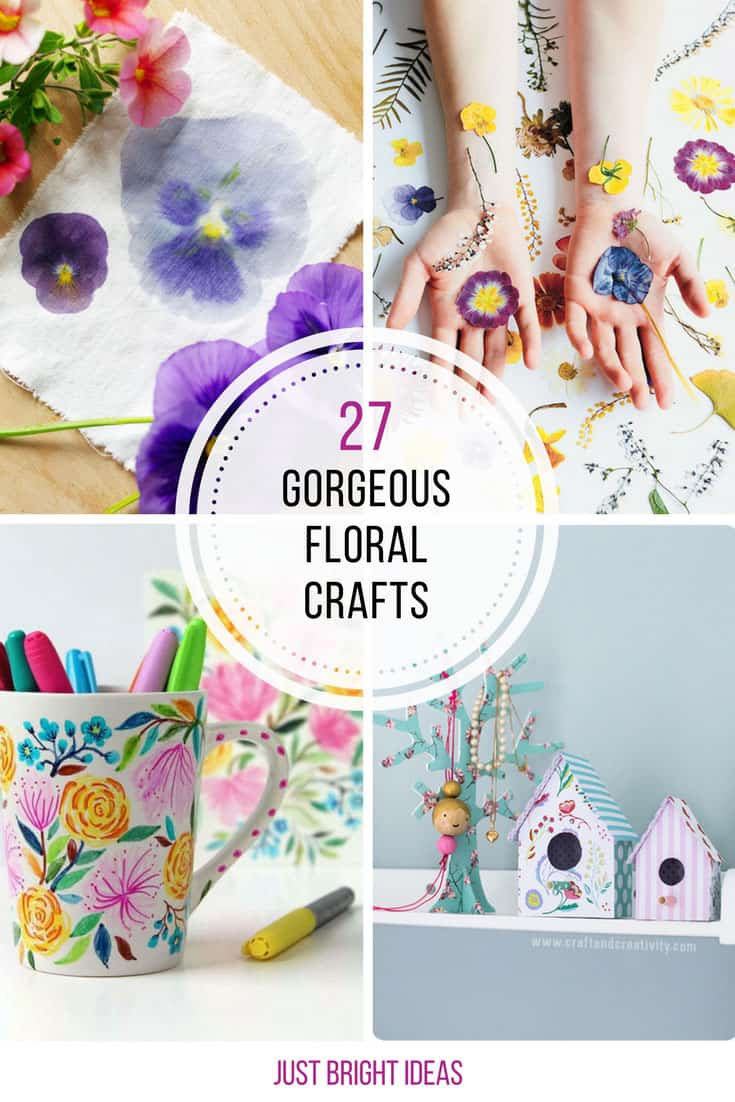 So many amazing floral crafts here I don't know which to do first!