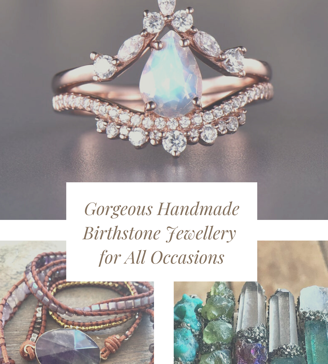 These handmade birthstone jewellery pieces are just gorgeous! They make wonderful gifts for the women in your life. Oh and the engagement rings are breathtaking!