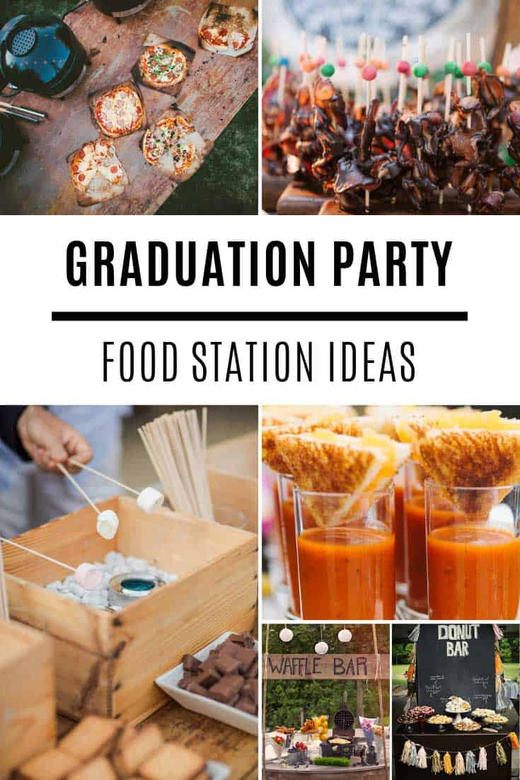 Throw a party your guests are sure to remember with these graduation food bar ideas! Everything from donuts and ice cream to pizza and taco bars!