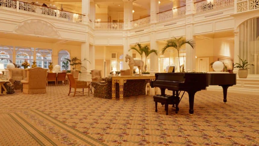 Listen to a pianist at the Grand Floridian