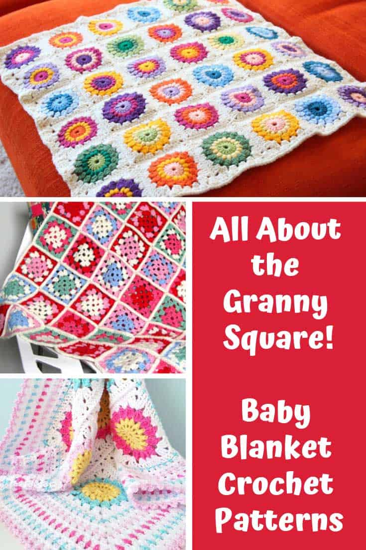 Loving these granny square crochet baby blanket patterns - so easy to make too!