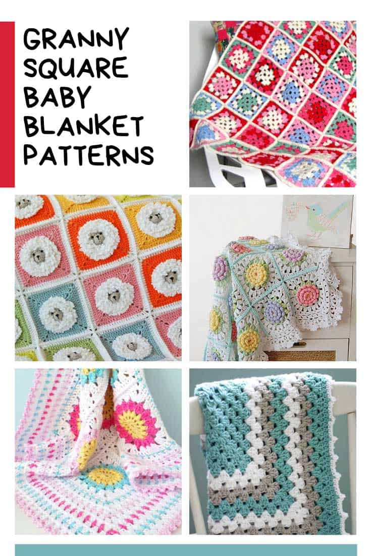 Loving these granny square baby blanket patterns! So colorful!