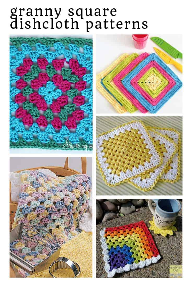 These granny square dish cloth patterns are so easy to follow!