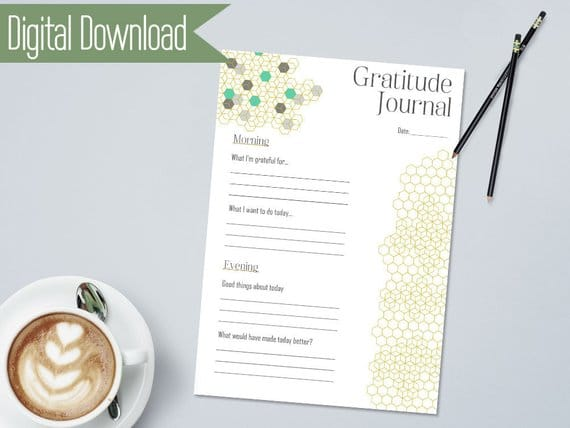 Gratitude Journal for Planner Insert