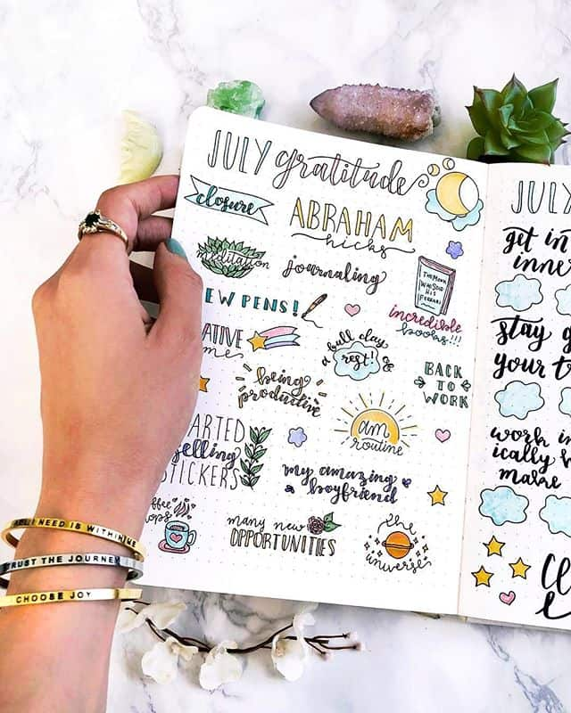 Gratitude Log Bullet Journal Plantful