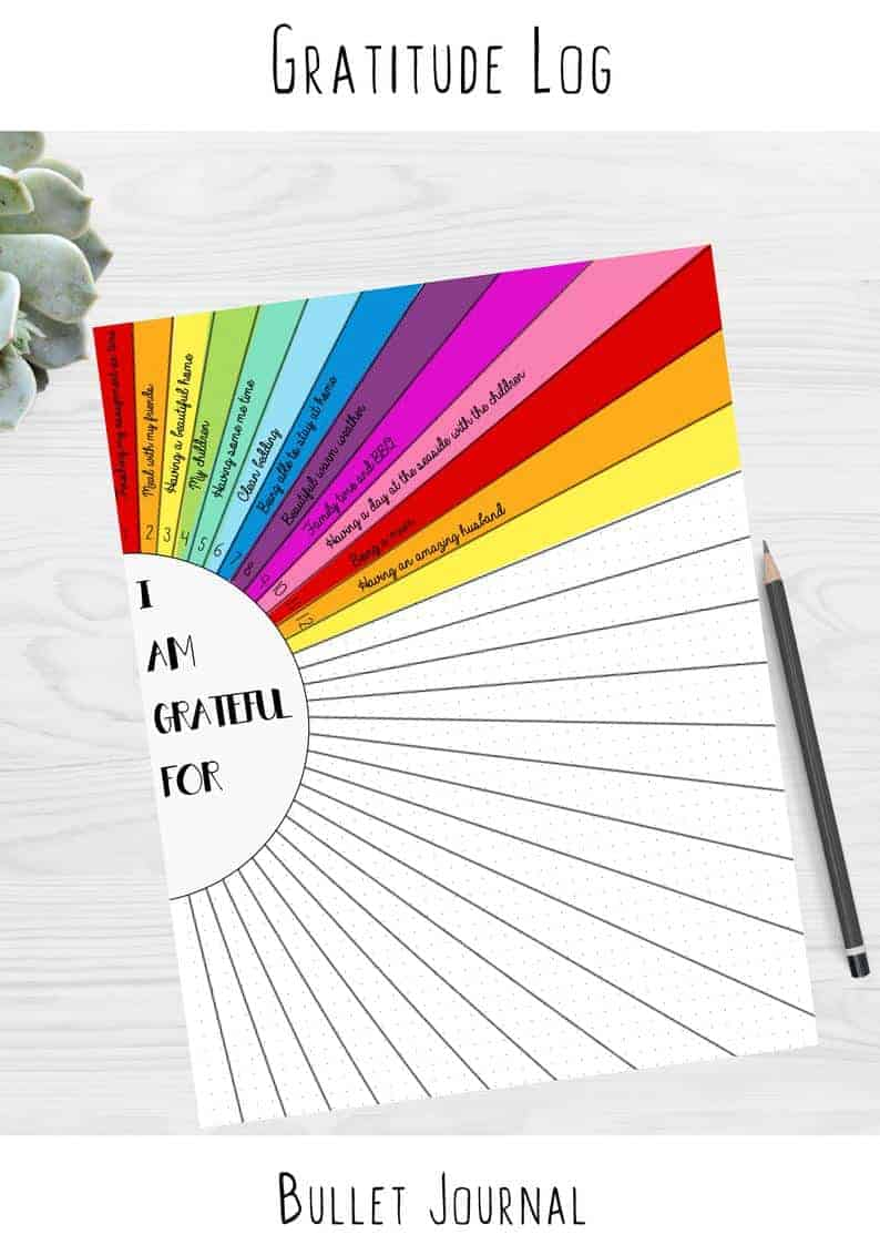 Sunshine Gratitude Tracker Printable