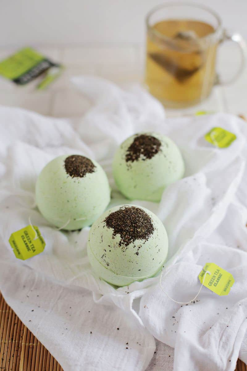 Green Tea and Lemon Bath Bombs