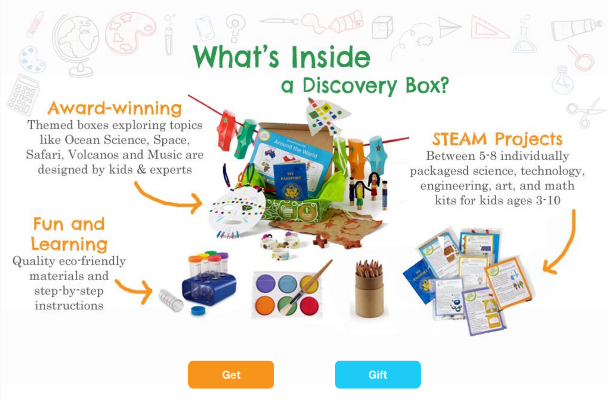 The folks at Green Kid Crafts will send your child a box full of STEM projects every month!