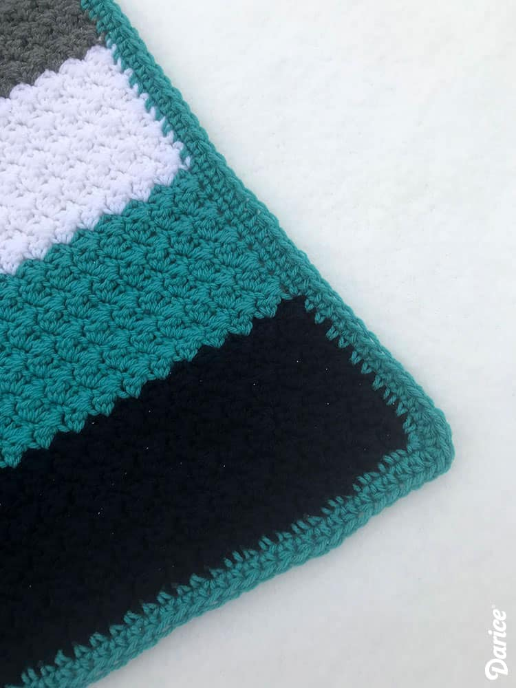 Grit Stitch Stripe Baby Blanket Pattern