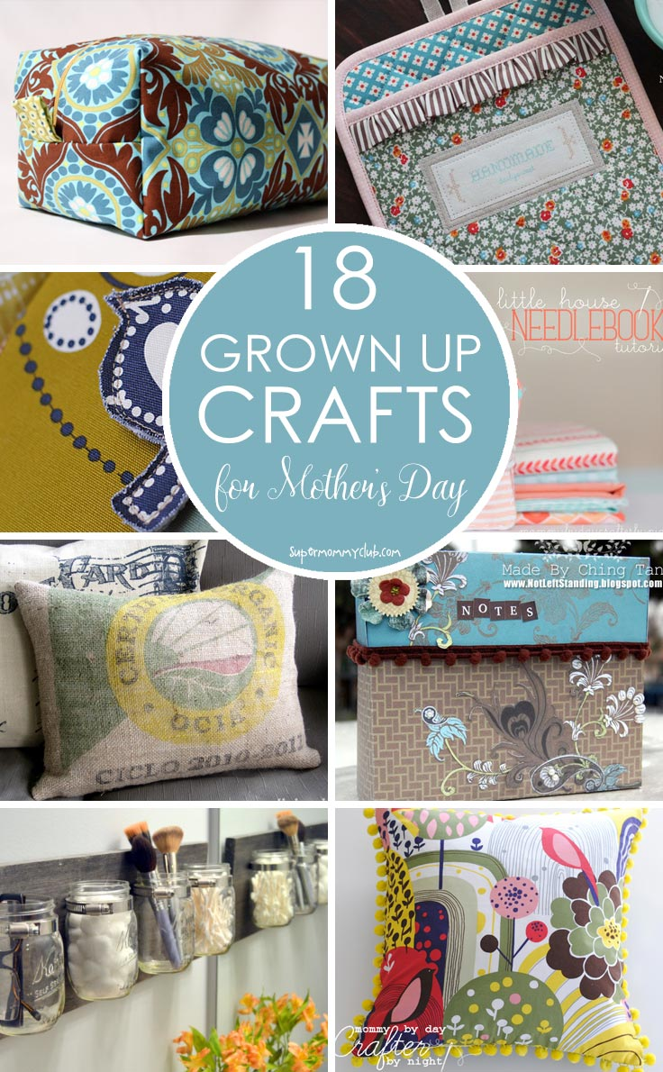 So many beautiful grown up crafts to make homemade gifts for mother's day