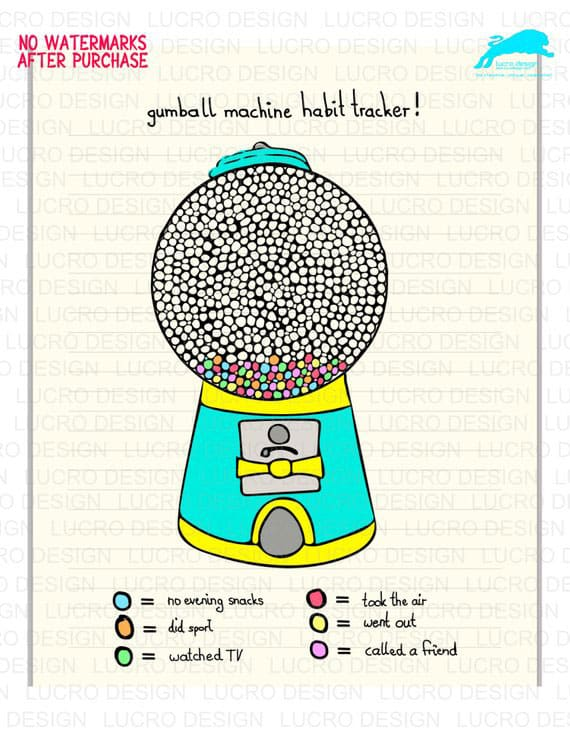 Gumball Machine Digital Planner