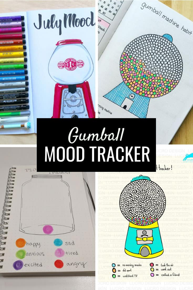 Gumball Mood Tracker {To track your emotions in your Bullet Journal}