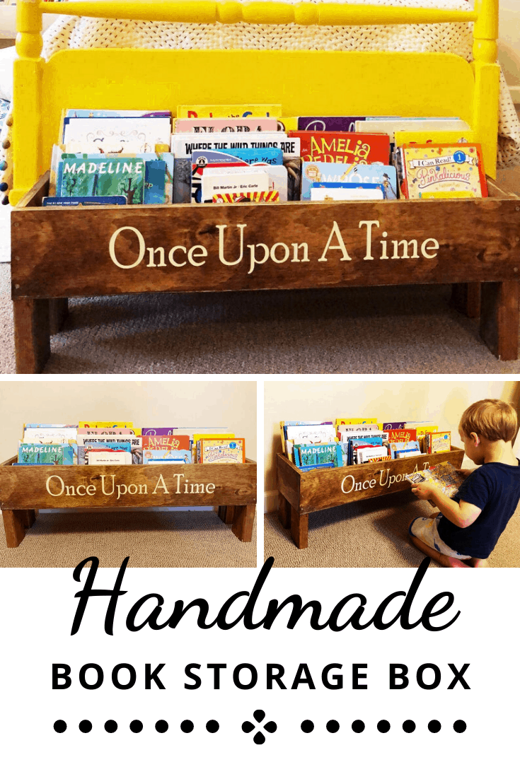 Once Upon a Time Handmade Book Storage Crate