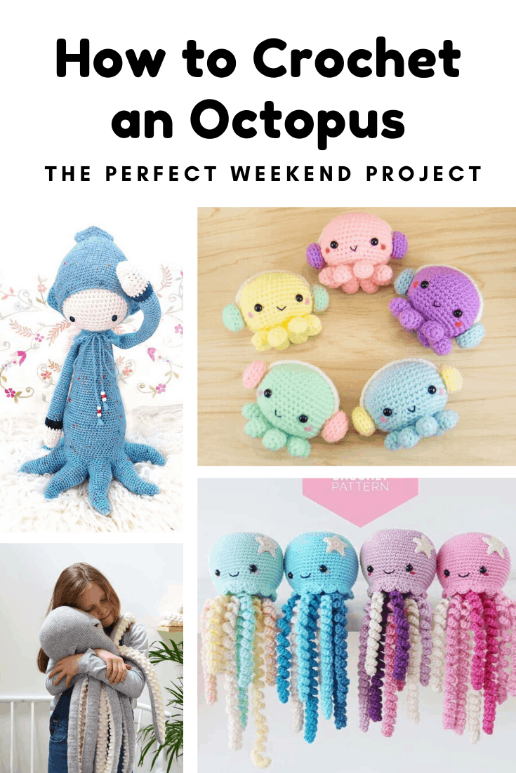 Find out how to crochet an octopus with these easy to follow patterns. From a preemie octopus to a giant one even a grown up could cuddle! #crochet #crafts #crochetpattern #handmadegift
