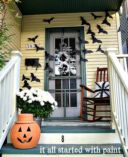 Bats give me the heeby geebies but I am in love with this porch makeover!